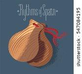 spanish castanets vector... | Shutterstock .eps vector #547084195
