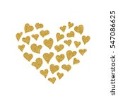 valentines day card with gold... | Shutterstock .eps vector #547086625