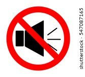 no sound sign illustration with ...