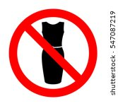 no dress sign illustration.