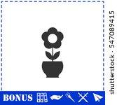 flower pot icon flat. simple... | Shutterstock .eps vector #547089415