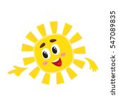 Smiling Sun Pointing To...