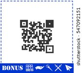 qr code icon flat. simple... | Shutterstock .eps vector #547092151