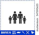Family Icon Flat. Simple Vecto...