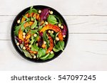 .roasted pumpkin salad with... | Shutterstock . vector #547097245