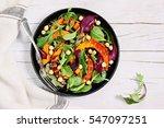 roasted pumpkin salad with... | Shutterstock . vector #547097251
