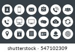 round communications icons set | Shutterstock .eps vector #547102309