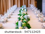 wedding table settings. | Shutterstock . vector #547112425