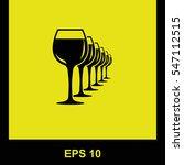 wineglasses  vector black icon. ...