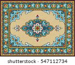 colorful mosaic rug with...   Shutterstock .eps vector #547112734