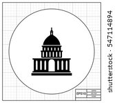 white house simple icon   Shutterstock .eps vector #547114894