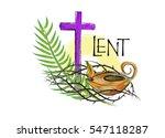 lent season christian religious ... | Shutterstock . vector #547118287