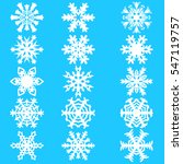 set snowflakes icons on white...   Shutterstock .eps vector #547119757