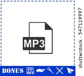 audio file icon flat. simple...