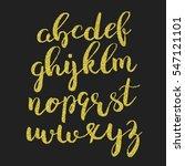 gold glitter alphabet. shiny... | Shutterstock .eps vector #547121101
