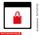 shopping bag calendar page icon.... | Shutterstock .eps vector #547125721