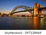 classic shot of sydney harbour... | Shutterstock . vector #547128469