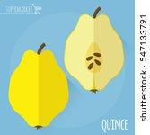 flat design juicy fresh fruits... | Shutterstock .eps vector #547133791