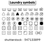 laundry washing symbols set.... | Shutterstock .eps vector #547133899