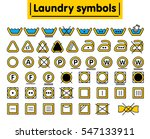 laundry symbols set. colored... | Shutterstock .eps vector #547133911