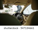 woman cleaning right hand car... | Shutterstock . vector #547134661