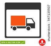 shipment truck calendar page... | Shutterstock .eps vector #547135507