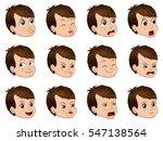 big set of cute little boy... | Shutterstock .eps vector #547138564