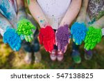 hands   palms of young people... | Shutterstock . vector #547138825