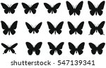 set of silhouettes of... | Shutterstock .eps vector #547139341