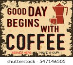coffee vintage poster or retro... | Shutterstock .eps vector #547146505