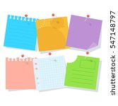 set of bright colored pieces of ... | Shutterstock .eps vector #547148797