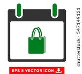 shopping bag calendar day icon. ... | Shutterstock .eps vector #547149121