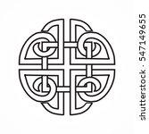 celtic knot on the white... | Shutterstock .eps vector #547149655