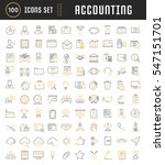 set vector line icons in flat... | Shutterstock .eps vector #547151701