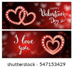 set of valentines day cards ... | Shutterstock .eps vector #547153429