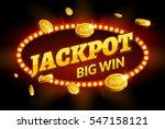 jackpot gambling retro banner... | Shutterstock .eps vector #547158121