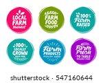 vector set colorful labels for... | Shutterstock .eps vector #547160644