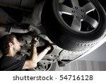auto mechanic working at auto... | Shutterstock . vector #54716128