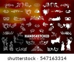 vector set of calligraphic... | Shutterstock .eps vector #547163314
