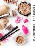 make up products color sample... | Shutterstock . vector #547165051