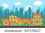 vector city with cartoon houses ... | Shutterstock .eps vector #547178317