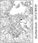unicorn. the composition... | Shutterstock .eps vector #547178929