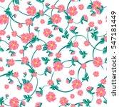 vector flowers pattern ... | Shutterstock .eps vector #547181449