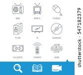 retro tv  radio and dvd disc... | Shutterstock .eps vector #547182379