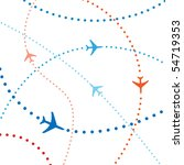 air travel. dotted lines are... | Shutterstock .eps vector #54719353