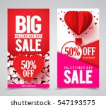 valentines day sale vector... | Shutterstock .eps vector #547193575