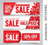 valentines day sale vector... | Shutterstock .eps vector #547193581