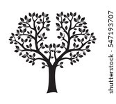 black tree and leafs. vector... | Shutterstock .eps vector #547193707