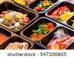 healthy food and diet concept ... | Shutterstock . vector #547200805