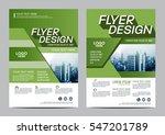 greenery brochure layout design ... | Shutterstock .eps vector #547201789